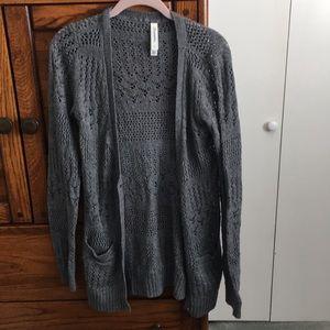 Women's Long Gray Cardigan